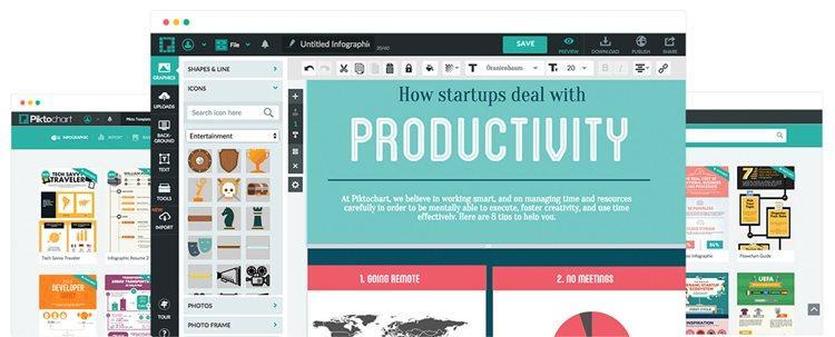 Сервис для создания инфографики Piktochart.com