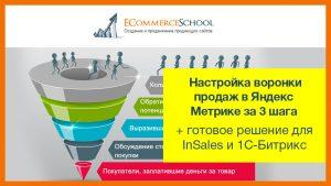 Настройка воронки продаж в Яндекс Метрике за 3 шага + готовое решение для InSales и 1С-Битрикс