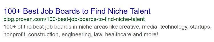Вот как выглядела органическая поисковая выдача для этой страницы