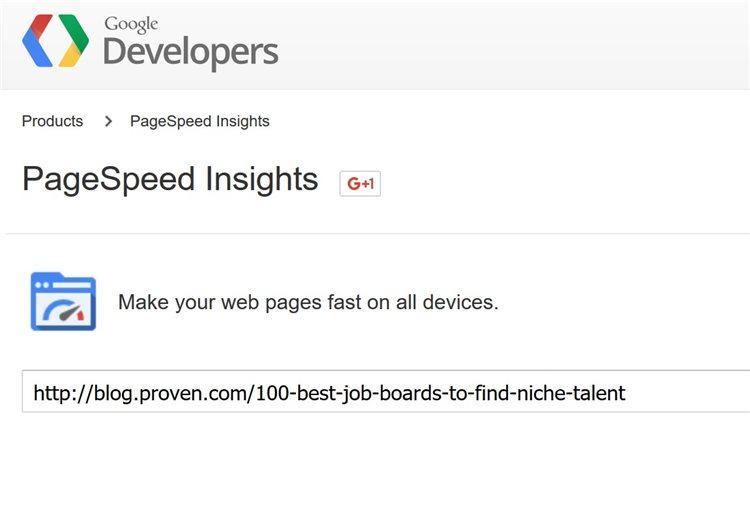 Во-первых, я проанализировал Proven.com с помощью инструмента Google PageSpeed Insights