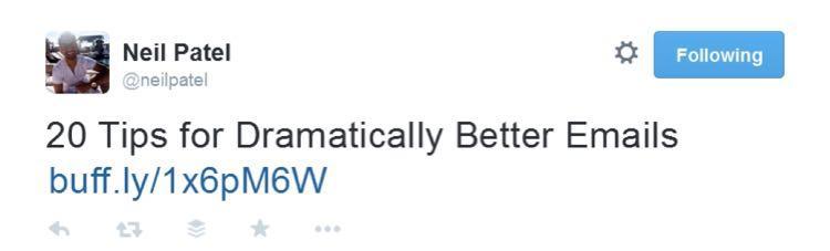 В том числе твиты такой звезды как Нил Патель (118,000 фолловеров)…