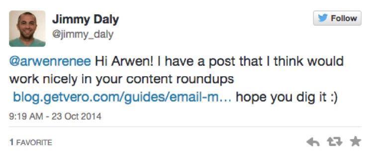 Если у него не получалось найти email-адрес, он использовал Твиттер.