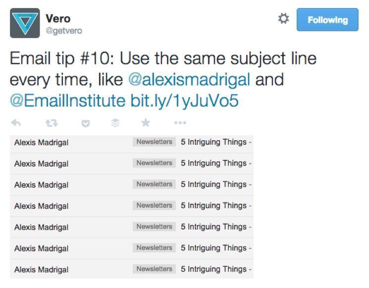 Он составил расписание твитов для продвижения каждого совета