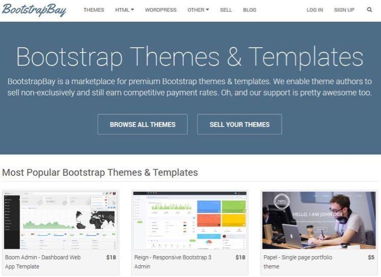 Крис Гиммер – основатель BootstrapBay. Это недавно появившаяся торговая площадка тем, созданных с помощью нового фреймворка под названием Bootstrap.