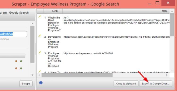 Затем Export to Google Docs
