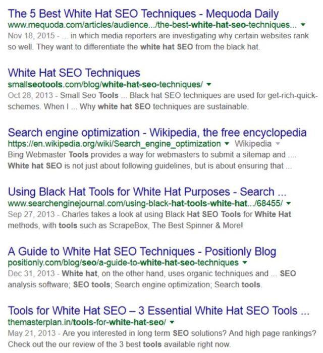 Поэтому Ричард искал в Google по таким запросам, как «инструменты для SEO», «инструменты белой SEO оптимизации» и инструменты для линкбилдинга