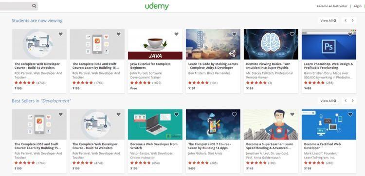 А вряд ли можно найти лучшее место для того, чтобы найти проверенные структуры контента, чем Udemy