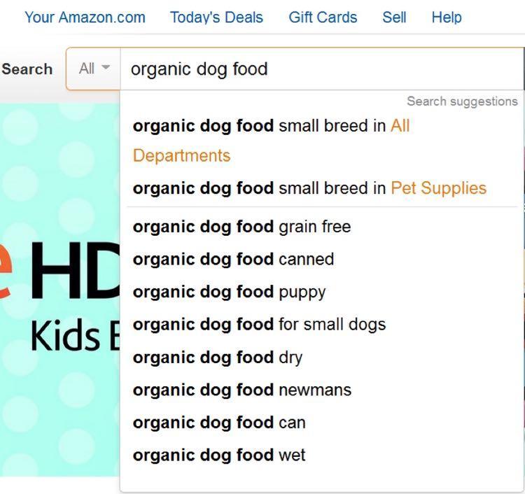 Подождите пару секунд, и Amazon покажет вам длиннохвостые ключевики, связанные с вашим (прямо как Google Suggest)