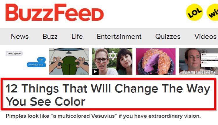 А идея этого подзаголовка была позаимствована из поста на BuzzFeed