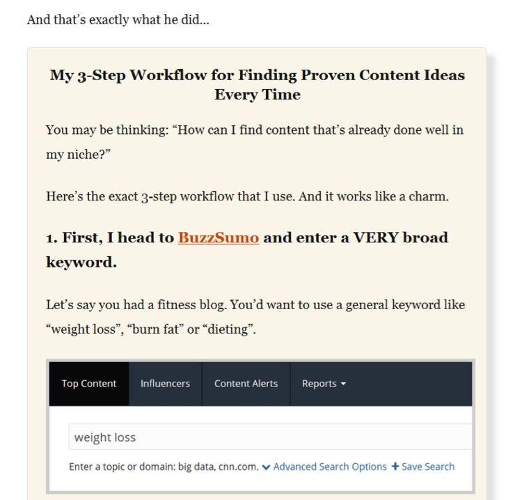 Когда у вас есть контент, дополняющий пост, оформите его в блок-сноску