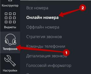 Покупаем подменные номера для определения источников звонка Телефония - Онлайн номера (я рекомендую 2-4 телефона на проект на начальном этапе)
