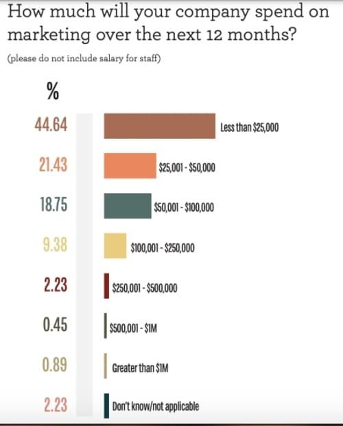 Опрос: Сколько денег вы инвестировали в маркетинг за последние 12 месяцев?
