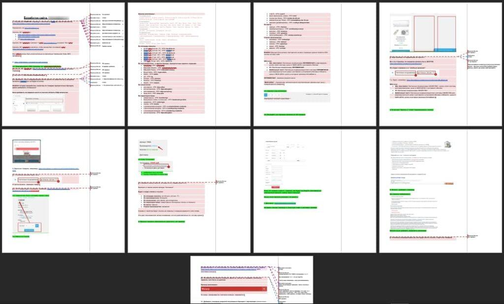 Составление ТЗ на доработки сайта