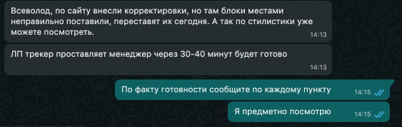 Кейс RimLion Переписка с клиентом по проекту-7