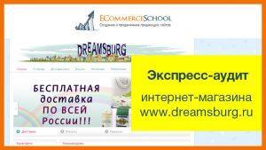 Экспресс-аудит интернет-магазина www.dreamsburg.ru