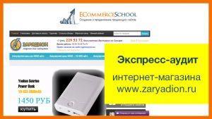 Экспресс-аудит интернет-магазина www.zaryadion.ru