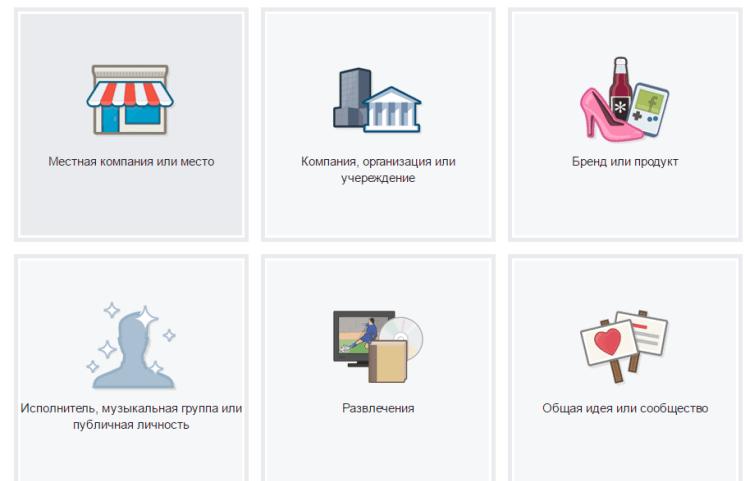 Выбираем подходящий тип страницы для Вашего бизнеса.