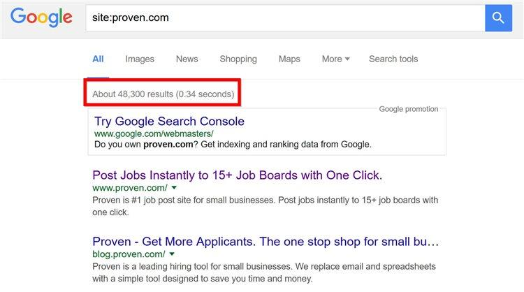 По факту, страниц этого сайта, проиндексированных в Google, было более 48,000