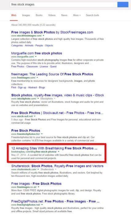Небоскребный контент находится на 7 месте в поисковой выдаче по ключевому слову free stock images (бесплатные стоковые изображения) (18,000 запросов в месяц), но это не все