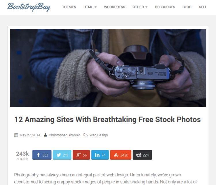 12 потрясающих сайтов с захватывающими бесплатными стоковыми фото.