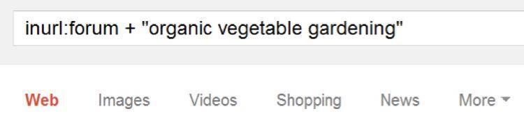 Вбейте в Google inurl:forum + «organic vegetable gardening»