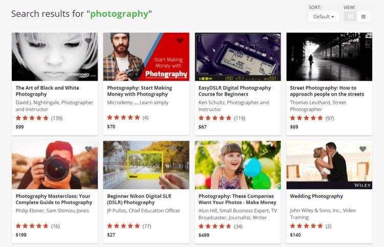 Udemy покажет вам все свои популярные курсы по фотографии