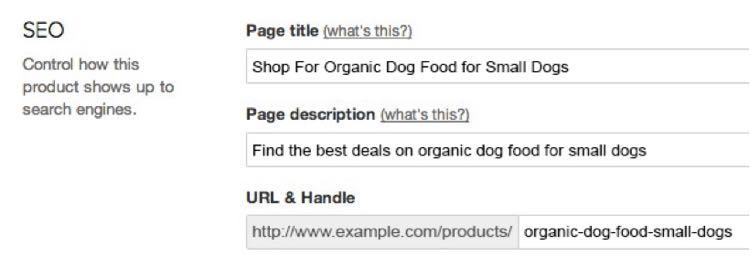Осталось только использовать на ваших страницах продукта и категории (а также в ваших тегах заголовка и описания)