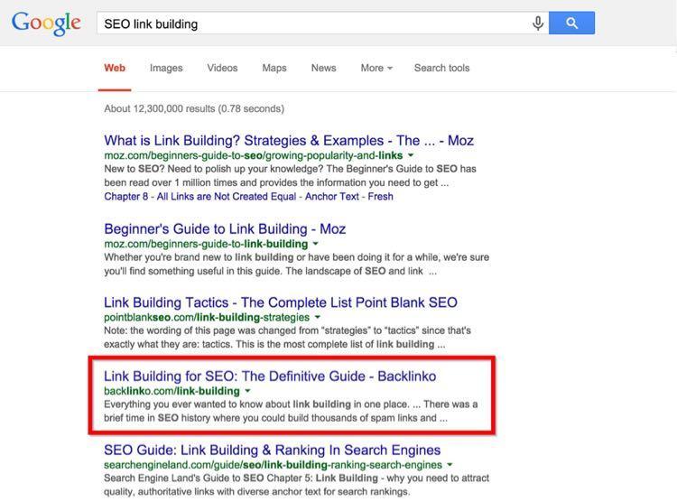 …например, «SEO link building» («SEO линкбилдинг») – 480 запросов в месяц