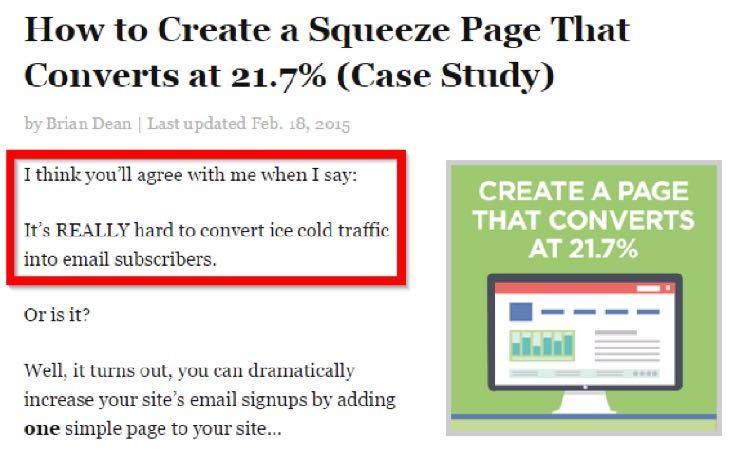 Вот пример из моего поста о создании социальной страницы захвата контакта