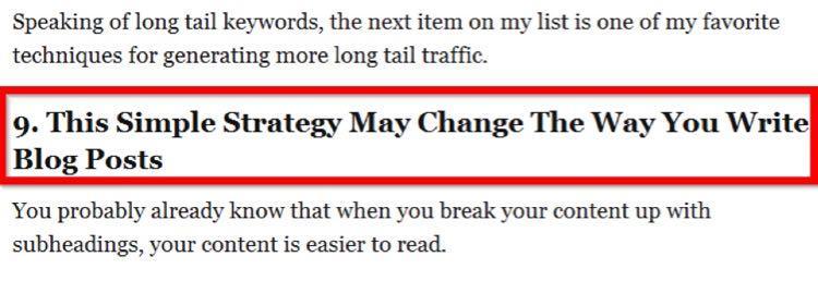 Например, заголовок девятого пункта из этого поста, скорее всего, привлек ваше внимание