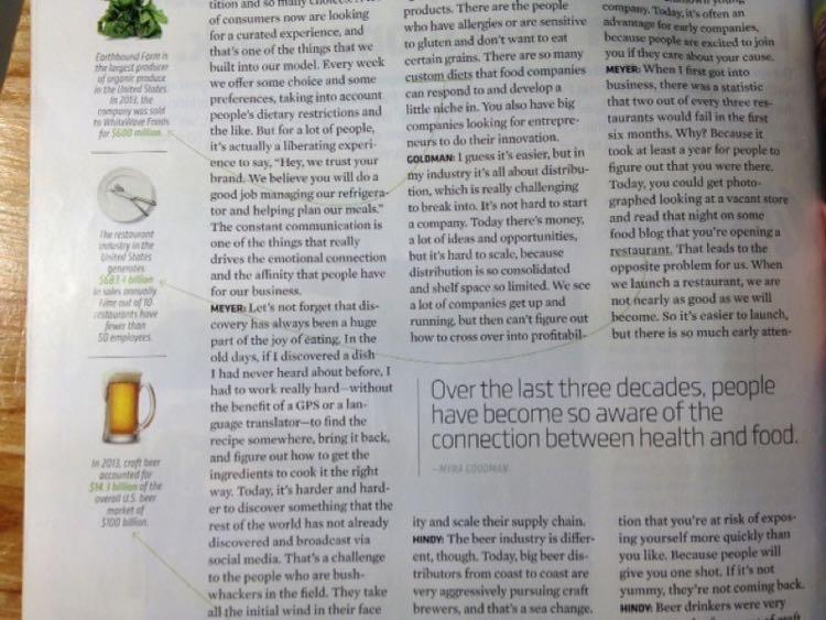 В журналах используются десятки способов разделения полотен текста