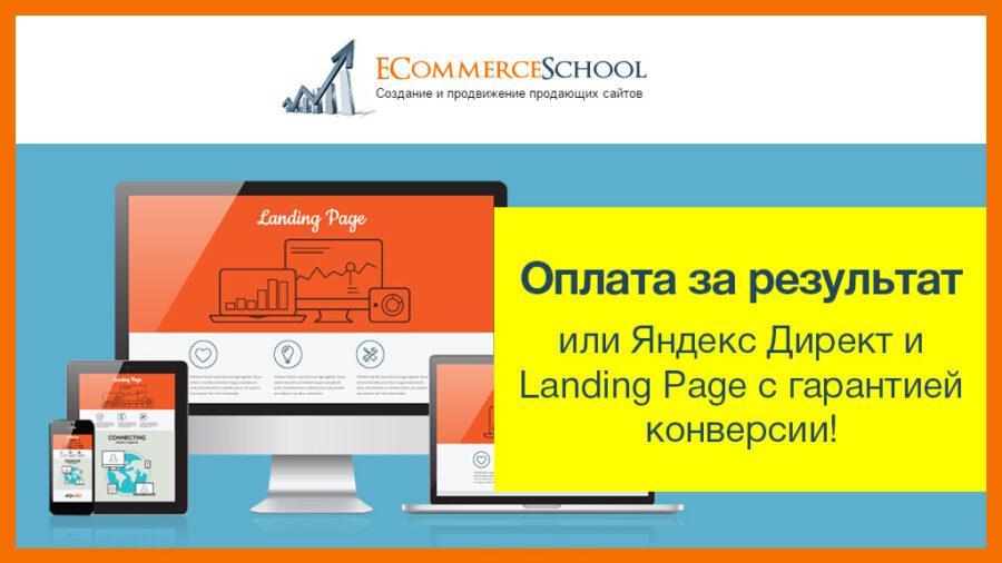 Оплата за результат или Яндекс Директ и Landing Page с гарантией конверсии